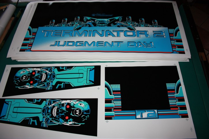 Terminator 2 Gehäuse Aufkleber Satz